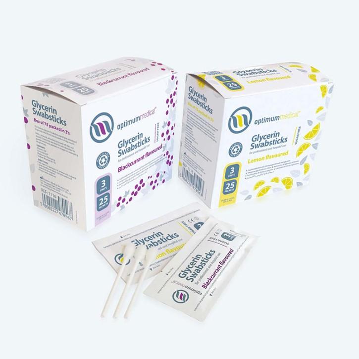 Wattestäbchen Glycerin, Lemon-Geschmack 25x3 Stck